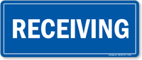 Blue Receiving Sign