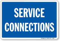 Service Connections Rail Road Clamp Sign