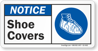 Shoe Covers ANSI Notice Sign