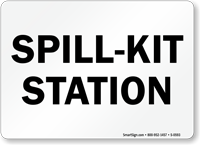 Spill Kit Station Sign
