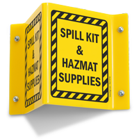 Spill Kit & HazMat Supplies Sign