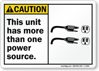 Unit Has More Than One Power Source Sign