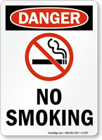 Danger: No Smoking (with graphic) (vertical)