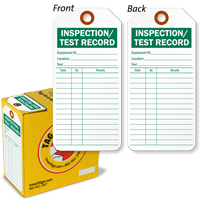Inspection / Test Record Inspection Tag-in-a-Box
