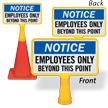 ConeBoss Notice Sign