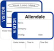 Time Expiring Visitor Badge - Fill in your own Name, Company Name, Visiting, Date and Choose Color