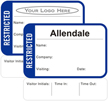 Restricted Time Expiring Badge - Fill in your own Name, Company Name, Visiting, Date and Choose Color