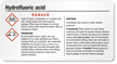 GHS Hydrofluoric Acid Label - Small