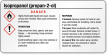 Isopropanol (2-propanol) GHS Label - Small