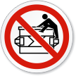 No Climbing ISO Prohibition Sign