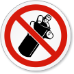 ISO No Spraying Prohibition Sign