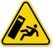 ISO Body Crush Tip Over Hazard Symbol Warning Sign
