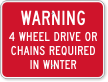 Winter Road Safety Sign
