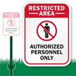 Restricted Area LawnBoss® Sign & Stake Kit