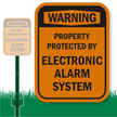 Electronic Alarm System LawnBoss™ Sign & Stake Kit