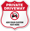 Custom Private Driveway Shield Sign