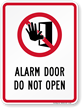 Security Alarm Sign