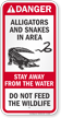 Alligator And Snake Warning Sign