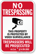 Arkansas No Trespassing Sign