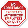 Authorized Employees Sign