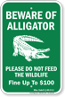 Mississippi Alligator Warning Sign