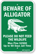 Arkansas Alligator Warning Sign