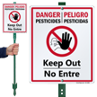 Bilingual Danger / Peligro LawnBoss™ Sign & Stake Kit