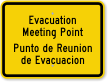 Bilingual Evacuation Assembly Area Sign