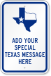 Create Own Texas Sign