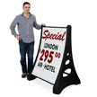Deluxe XL Quick-Load A-Frame Sidewalk Sign and Letter Kit