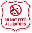 Alligator Warning Shield Sign