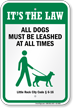 Dog Leash Sign For Little Rock (Arkansas)