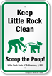 Dog Poop Sign For Arkansas