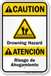 Bilingual Beach Safety Sign