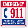 Emergency Phone 911 Sign