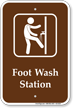 Campground Foot Wash Sign