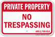 Hawaii Private Property Sign