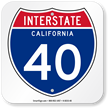 California Interstate Sign