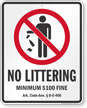 Arkansas No Littering Sign