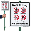 No Soliciting LawnBoss™ Sign & Stake Kit