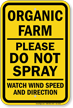 No Spraying Sign