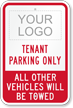 Custom Tenant Parking Only Sign