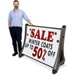 Deluxe QLA Quick-Load A-Frame Roadside Sign Holder and Letter Kit