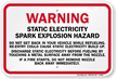 Warning Static ESD Refueling Sign
