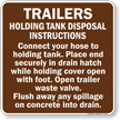 Trailers Instructions Sign