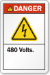 ANSI Danger High Voltage Label