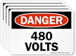 OSHA Danger High Voltage Label
