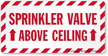 Sprinkler Label