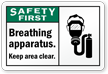ANSI Safety First PPE Label