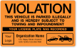 Custom Parking Violation Label